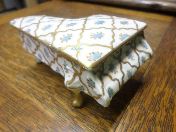 Limoges France Piano Shape Trinket Pot by CreuseCurios on Etsy, €30.00