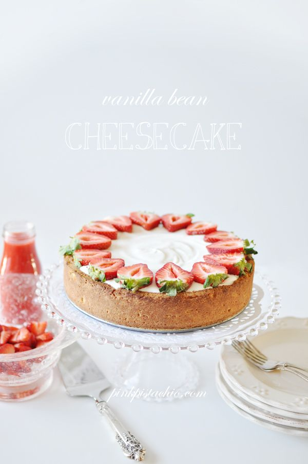 Vanilla Bean Cheesecake Recipe | Cheesecakes | Pinterest