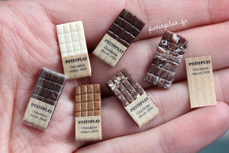 PetitPlat Handmade Miniature Food: Itty Bitty Tiny Chocolate Bars