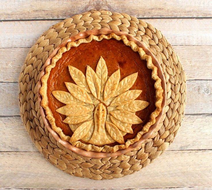 Adorable Turkey Crust Pumpkin Pie - Thanksgiving Food List: 15 Creative Food Ideas for A Fabulous Thanksgiving Feast