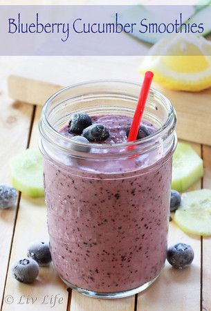 Blueberry Cucumber Smoothie... 30-Day Juicing Challenge | Liv Life @livlifetoo #blueberry #blending #juice