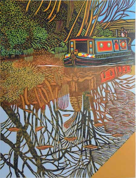 "Original ""Canal Linocuts"", colour and b&w from around the UK. Hand-cut, hand-inked and hand-printed by me, Eric Gaskell."