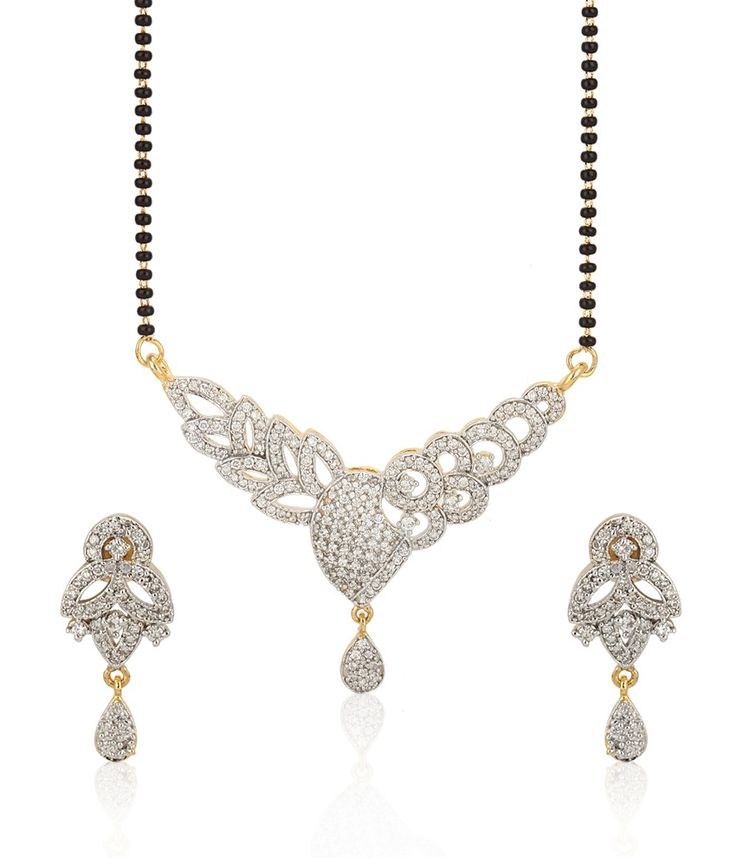 Jewels Galaxy Incredibly Designed American Diamond Mangalsutra Set, http://www.snapdeal.com/product/jewels-galaxy-incredibly-designed-american/633175651