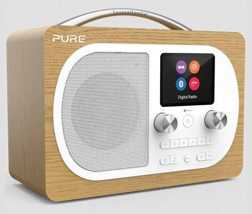 Pure Evoke H4 DAB/DAB+ receiver with colour screen and 6 direct access preset keys