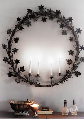 From old french church candles, being used as an advent light holder i december