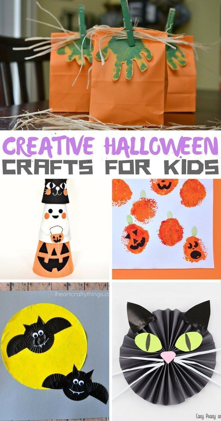 creative halloween crafts for kids - Halloween Crafts For Preschoolers Easy