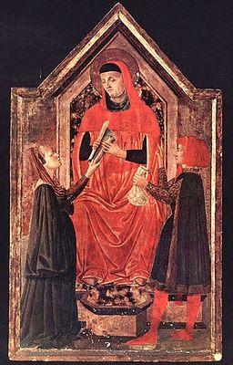 Icône de saint Yves. Neri di Bicci ? Florence (Italie)