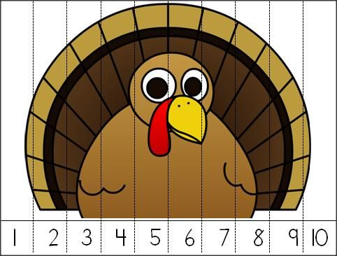 Thanksgiving Turkey - 1s Number Puzzle.  Great for all of November.