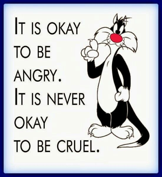 Angery Words Quotes Pictures: It's Okay To Be Angry. It Is Never Okay To Be Cruel