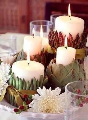 decoração de mesa/velas