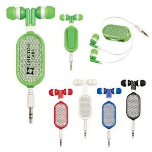 Retractable Reflective Earbuds A new twist on earbuds. Add to your party swag bag.  Perfect for Bar Mitzvahs and Bat Mitzvahs party favors.
