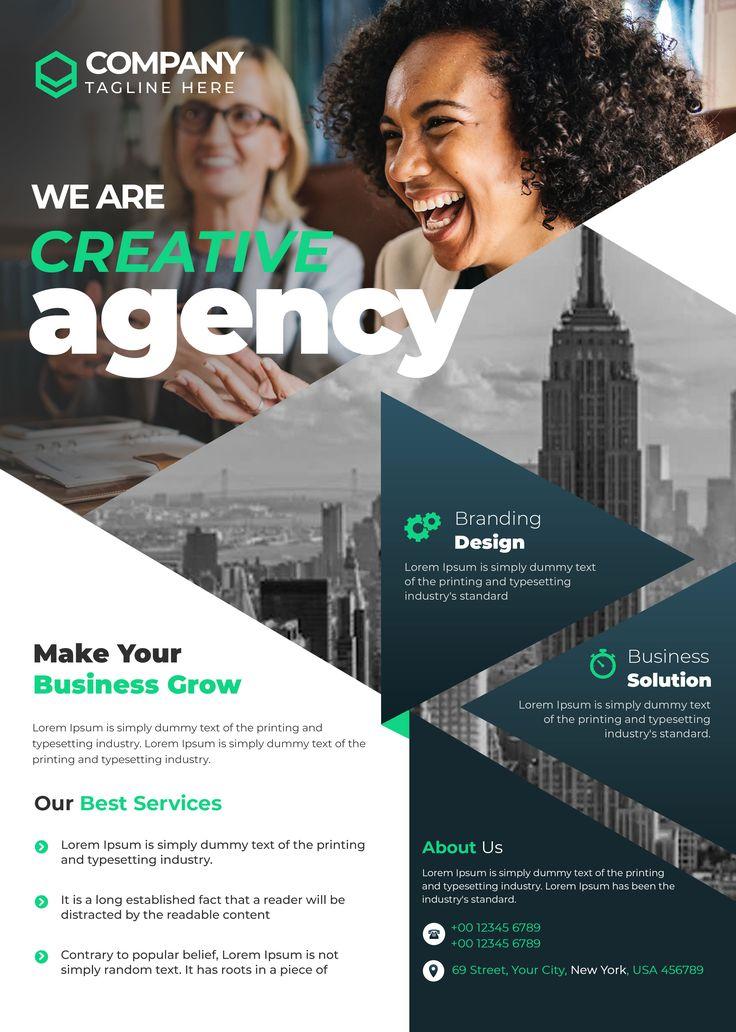 Corporate Creative Agency Free PSD Flyer Design Template