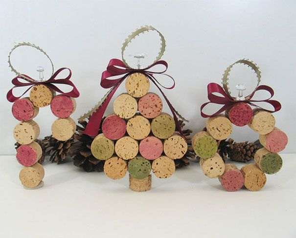 Wine cork figurines