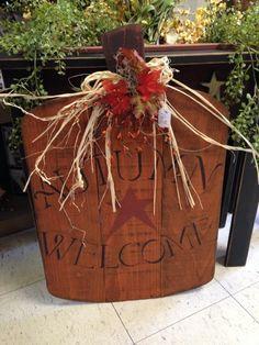 Primitive Fall Wood Craft Ideas   prim pumpkin https://www.facebook.com/justforyouprimitives01