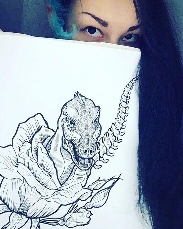 Тем временем в скетчбуке. #inkstagram #sketch #sketchbook #sketching #ink #black #blackink #eyes #girl #blue #dino #dinosaur #tyrannosaurus #trex #art #рисунок #иллюстрация #иллюстратор #художник #динозавр #тиранозавр #рекс #дино #скетч #illustrator #illustration #хищник #глаза #predator #danger