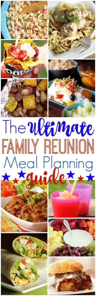 Over 30 tasty crowd-pleasing recipes and tips for successful reunion meal planning! Everything you need and more for the perfect family reunion! via @favfamilyrecipz