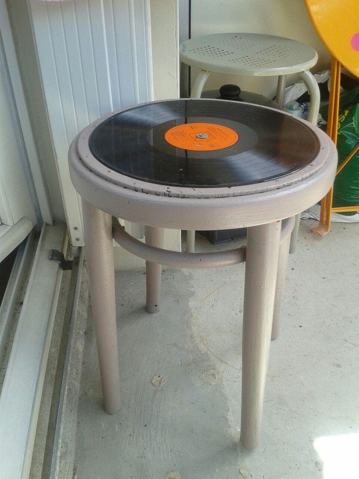 Tabouret de jardin dessus Vinyl