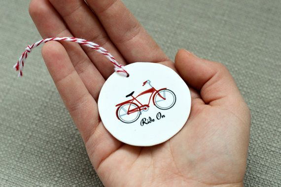 Retro Schwinn Bike Ornament Bike Gift by CDesignIllustration, $7.00