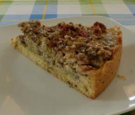 Rezept Rhabarberkuchen mit Nuss von knuffelbaer - Rezept der Kategorie Backen süß