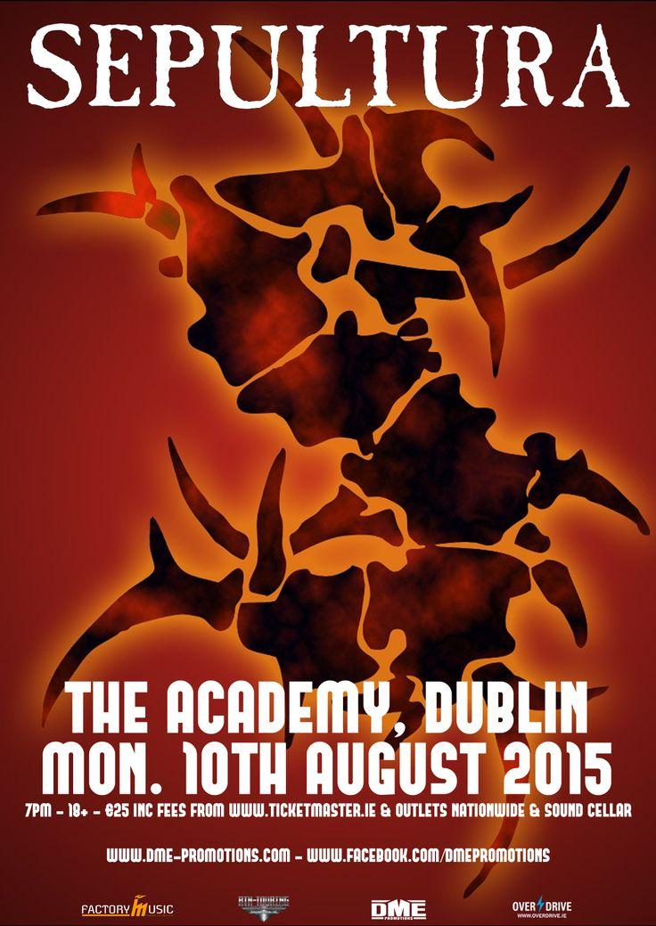 Sepultura The Academy, Dublin 10 August 2015
