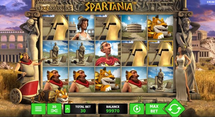 Travel in time and become an unbeatable Spartan in the Spartania Slot Machine. Get fame, power and money as the gladiator in the arena. #freeslots #freeplay #freespin #onlineslots #game #jackpot #game