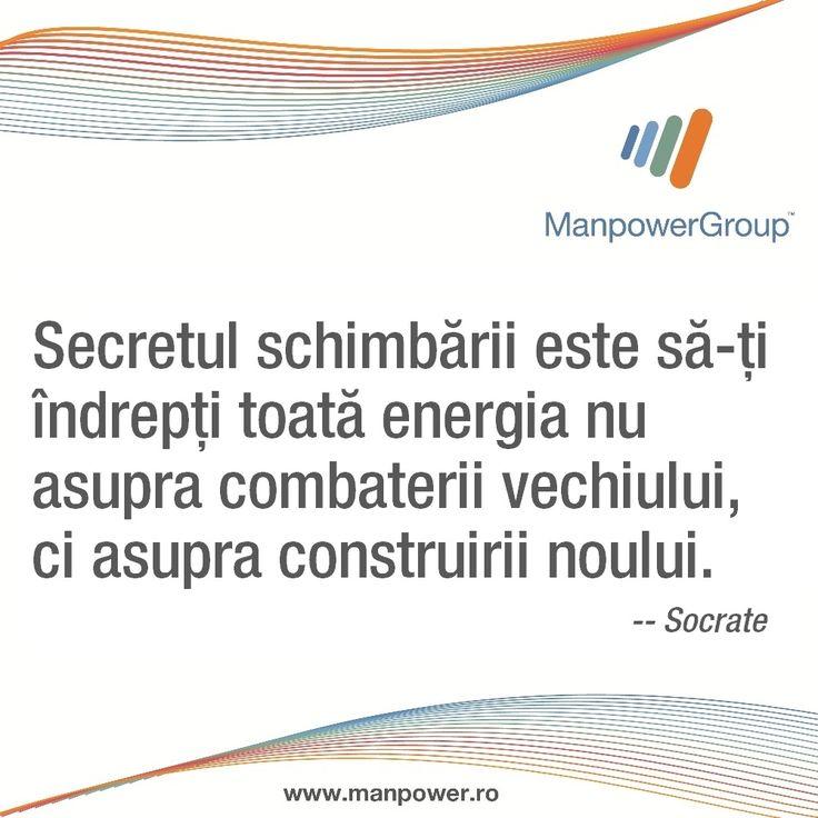Socrate despre schimbare si construirea noului.