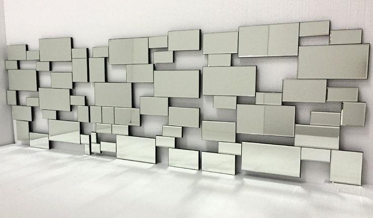 #Espejo Moderno en formas rectangulares, para colgar en horizontal de 180X60cm
