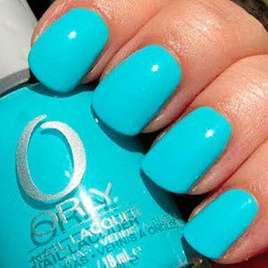 Turquoise Nail Polish- Frisky. Oh, I hope the nail place has a similar color tomorrow when I go for a polish change! LOVE!
