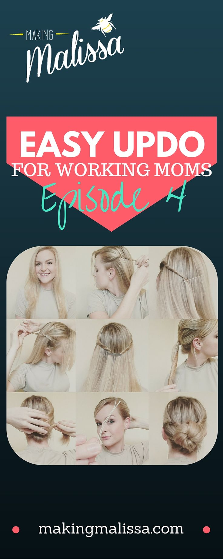 Episode 4 of my easy updos! Great for working Moms and military women!