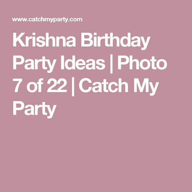 Krishna Birthday Party Ideas | Photo 7 of 22 | Catch My Party