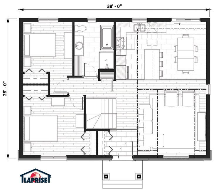 Champêtre, Bordure de lac / Chalet | LAP0374 | Maison Laprise - Maisons pré-usinées
