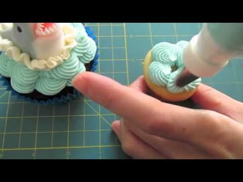 #5 How to decorate a Shark Cupcake Topper