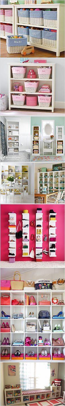 Стеллажи для хранения вещей.Множество интересных идей! | Мамам, женщинам, бабушкам и очень любознательным.