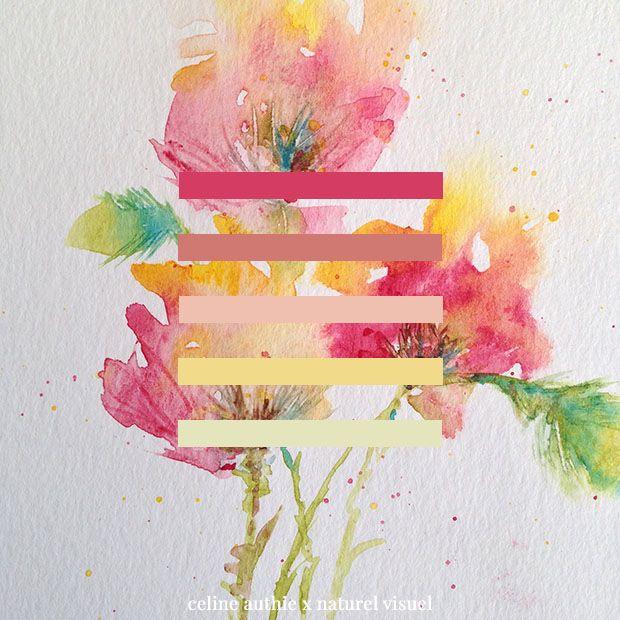 Palette De Couleurs Tiree D Une Aquarelle De Celine Authie