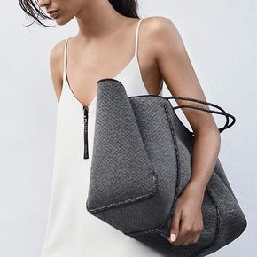 The inspired moment. Custom made LUXE Charcoal Marle. It captures a warmth… State of Escape are the originators and creators of the perforated neoprene Escape carryall bag. 100% designed and handcrafted in Australia.
