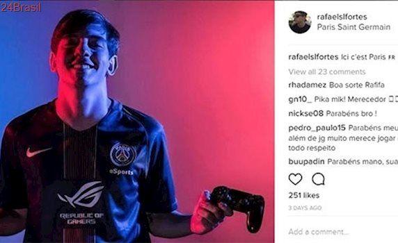 Brasileiro de 21 anos larga emprego após acertar com PSG para jogar Fifa