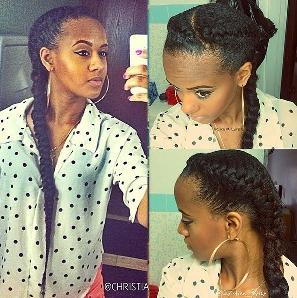 Best 25 two braids with weave ideas on pinterest french braid natural hair style goddess braids with extensions pmusecretfo Choice Image