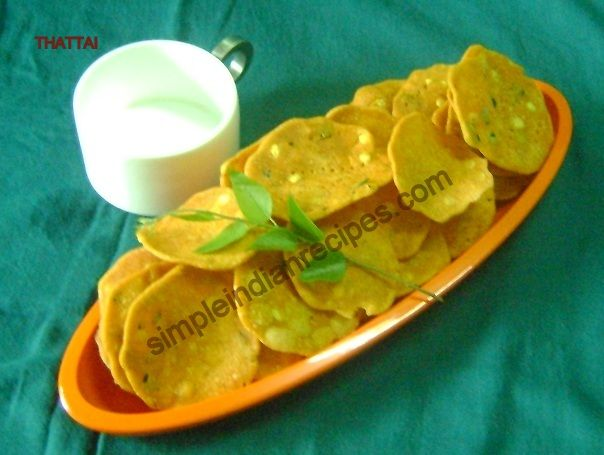 Thattai - Rice Crackers | Simple Indian Recipes