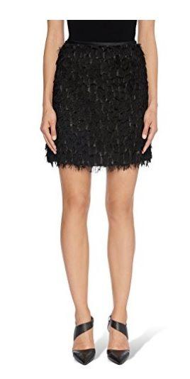 Falda negra pelo #Amazonmoda #Modamujer #Moda2017/2018 #Falda #Outfit #fashion #Shopping