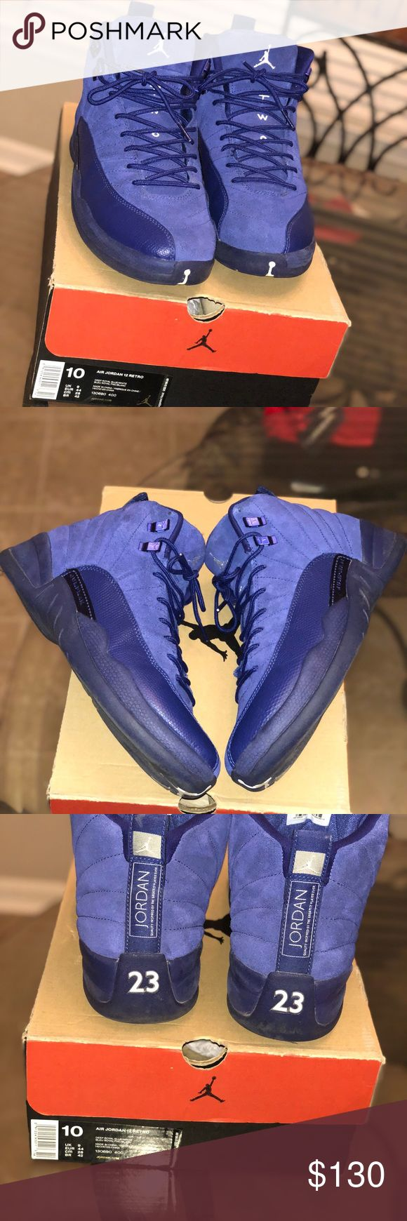 Retro Jordan Royal Blue 12's I've only worn these shoes 2 or 3 times they are like still new ‼️ I'm saling because I have so many pairs of shoes An I still like to buy them so I need a little more closet room Jordan Shoes Sneakers