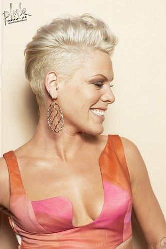 Love Pink.... Couple more years and this will be my hair style...