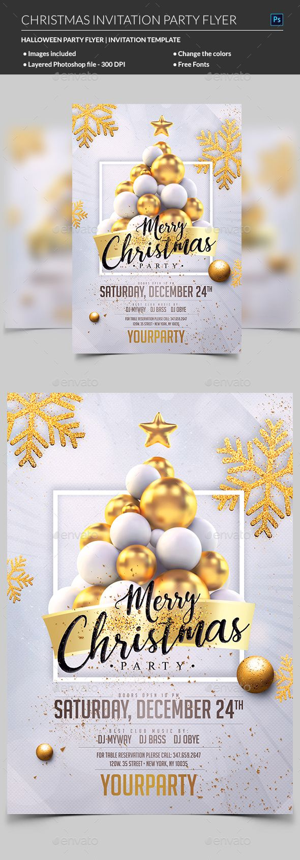 Christmas Party Invitation 371 best Flyers images