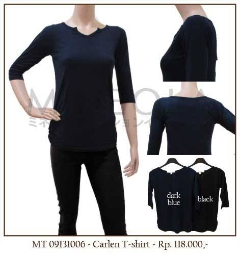 MINEOLA Carlen T-Shirt Dark Blue. Also available in black color. Only Rp.118.000,- Fabrics: cotton. Product code: MT09131006  [Size M/L] Bust: 80cm - Length: 63cm - Sleeve: 36cm [Size L/XL] Bust: 85cm - Length: 68cm - Sleeve: 40cm  #MINEOLA #myMINEOLA #iWearMINEOLA #Fashion #OnlineShop #Indonesia #Jakarta #Brand #Import #Dress #Blouse #Top #Pants #Skirt #TokoBajuOnline #BajuImport #IndonesiaOnlineShop #OnlineShopIndonesia #FashionOnlineShop