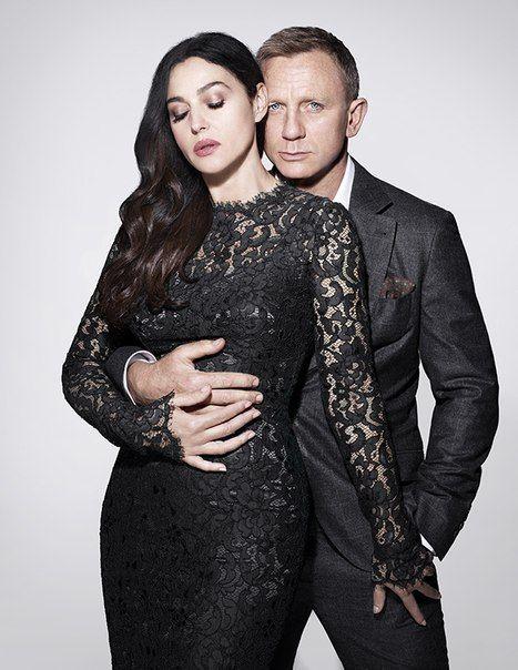 Monica Bellucci (who plays Lucia Sciarra in Spectre) and Daniel Craig. Original pic for GQ Magazine - November 2015 - UK