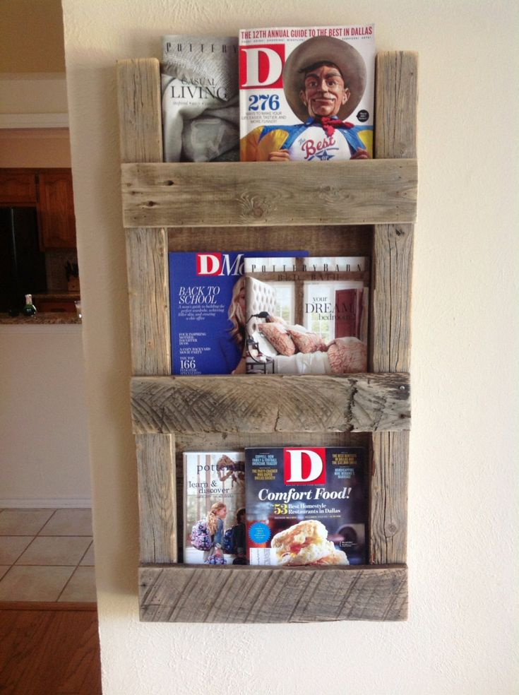 Reclaimed wood magazine rack home design pinterest for Magazine racks for home