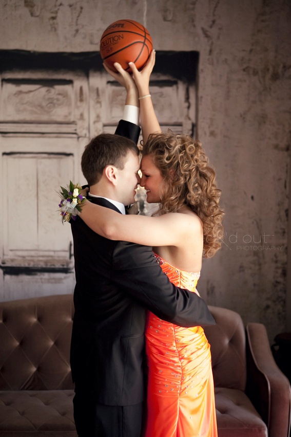 I wanna do this for prom except with a basketball and a pom pom :)