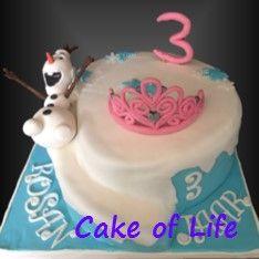 #frozen #olaf #tiara #spiralcake #sneeuw #3jaar #verjaardag #kinderfeest #taart