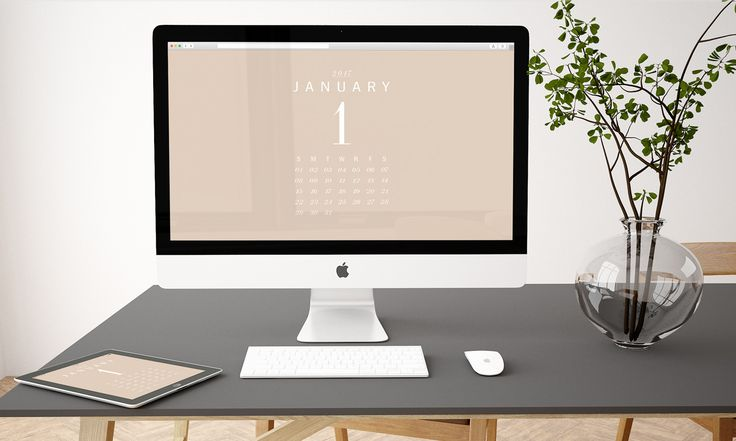 Free Download: Monthly Desktop Wallpaper Calendar for 2017