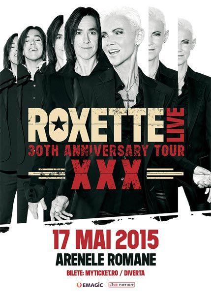 Roxette va concerta la București pe 17 mai 2015 la Arenele Romane. Va fi a doua oară când trupa suedeză va cânta la București - Info Concert