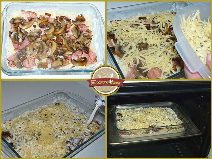 Шпецле (или немецкие клецки), запеченные с беконом и сыром. Приготовление. Шаг 7